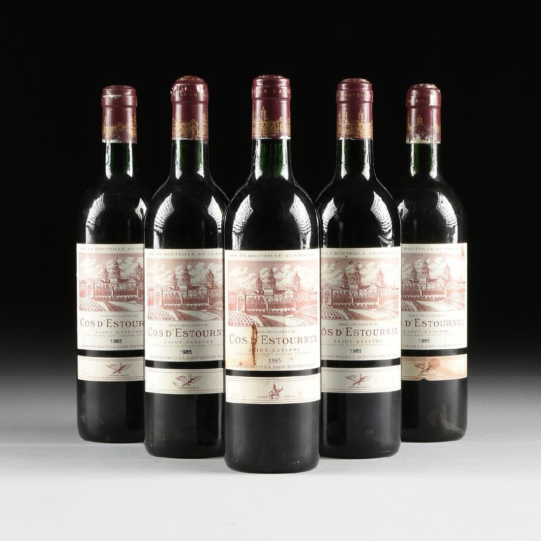 A GROUP OF SIX BOTTLES OF 1985 SAINT ESTÉPHE COS