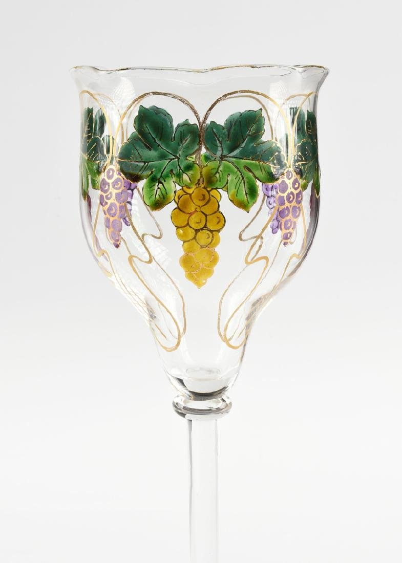 A GROUP OF FOUR GLASS VESSELS, CIRCA 1880-1900, - 3