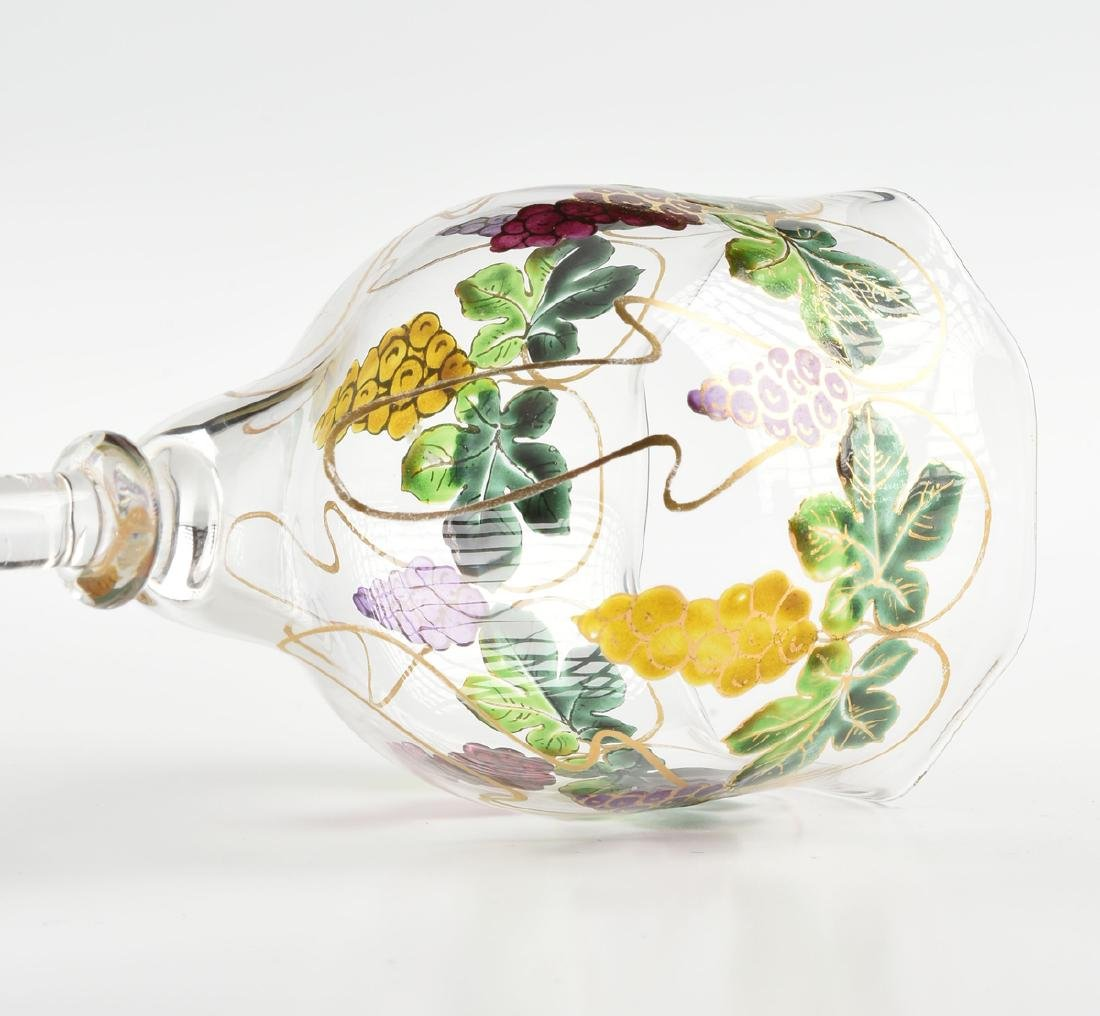 A GROUP OF FOUR GLASS VESSELS, CIRCA 1880-1900, - 5