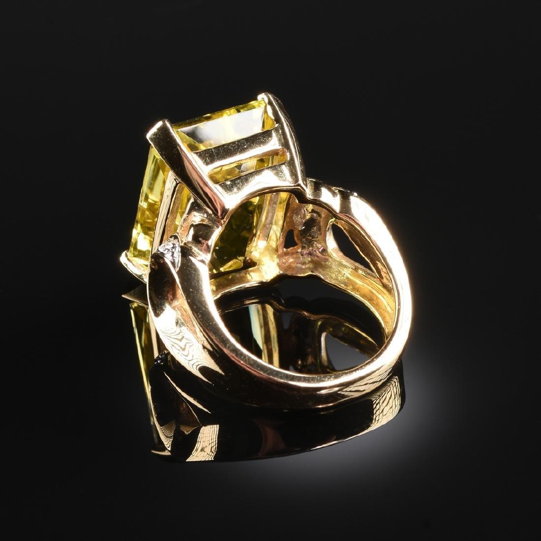 A 14K YELLOW GOLD, DIAMOND, AND YELLOW SAPPHIRE LAURA - 2