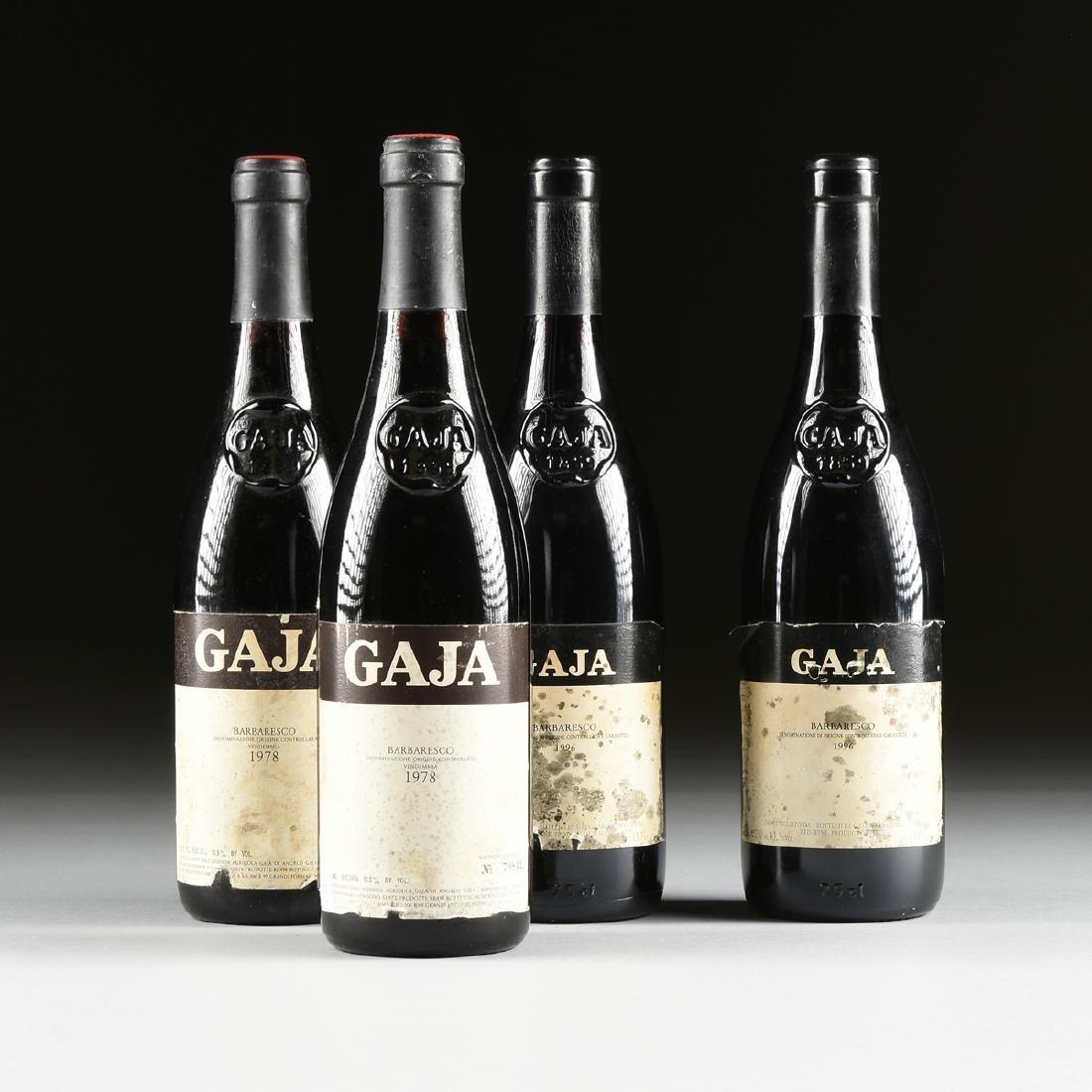 A GROUP OF FOUR BOTTLES OF GAJA BARBARESCO DOCG WINE,