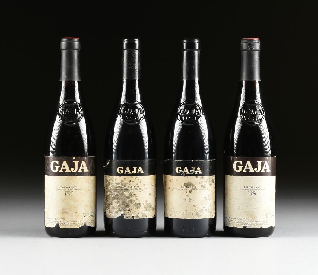 A GROUP OF FOUR BOTTLES OF GAJA BARBARESCO DOCG WINE, - 2