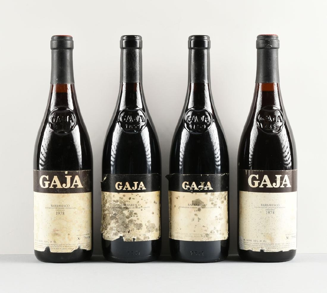 A GROUP OF FOUR BOTTLES OF GAJA BARBARESCO DOCG WINE, - 3