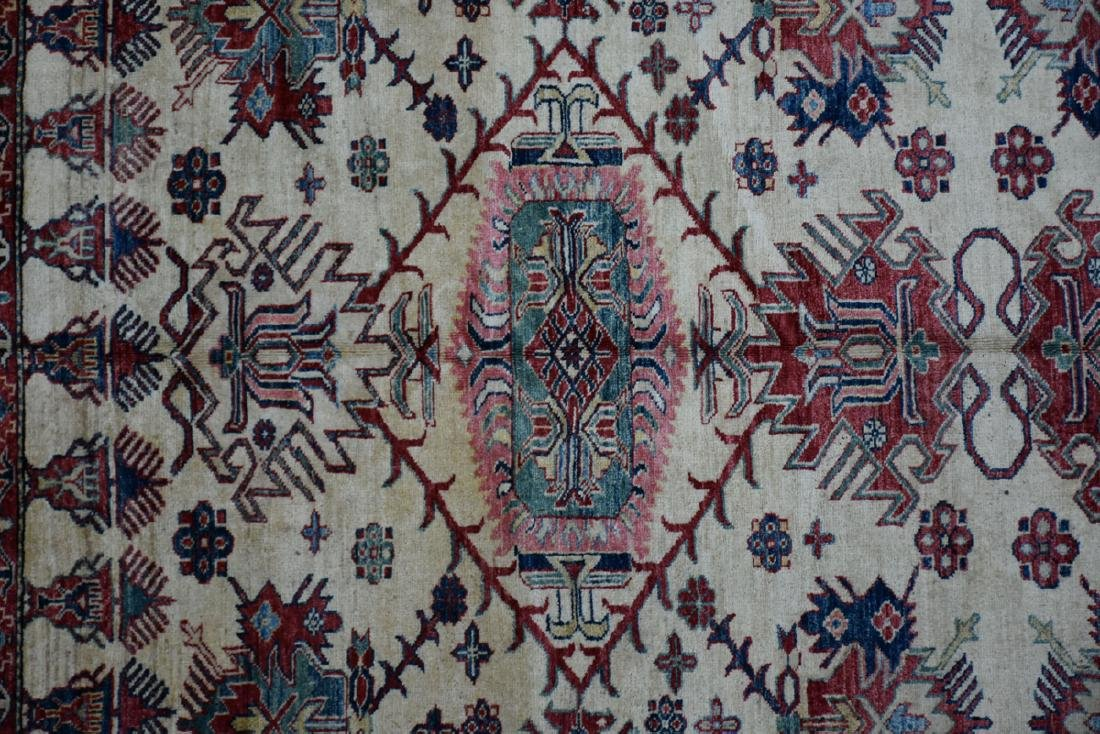 A TURKISH HAND KNOTTED WOOL RUG, POSSIBLY MELEZ, CIRCA - 3