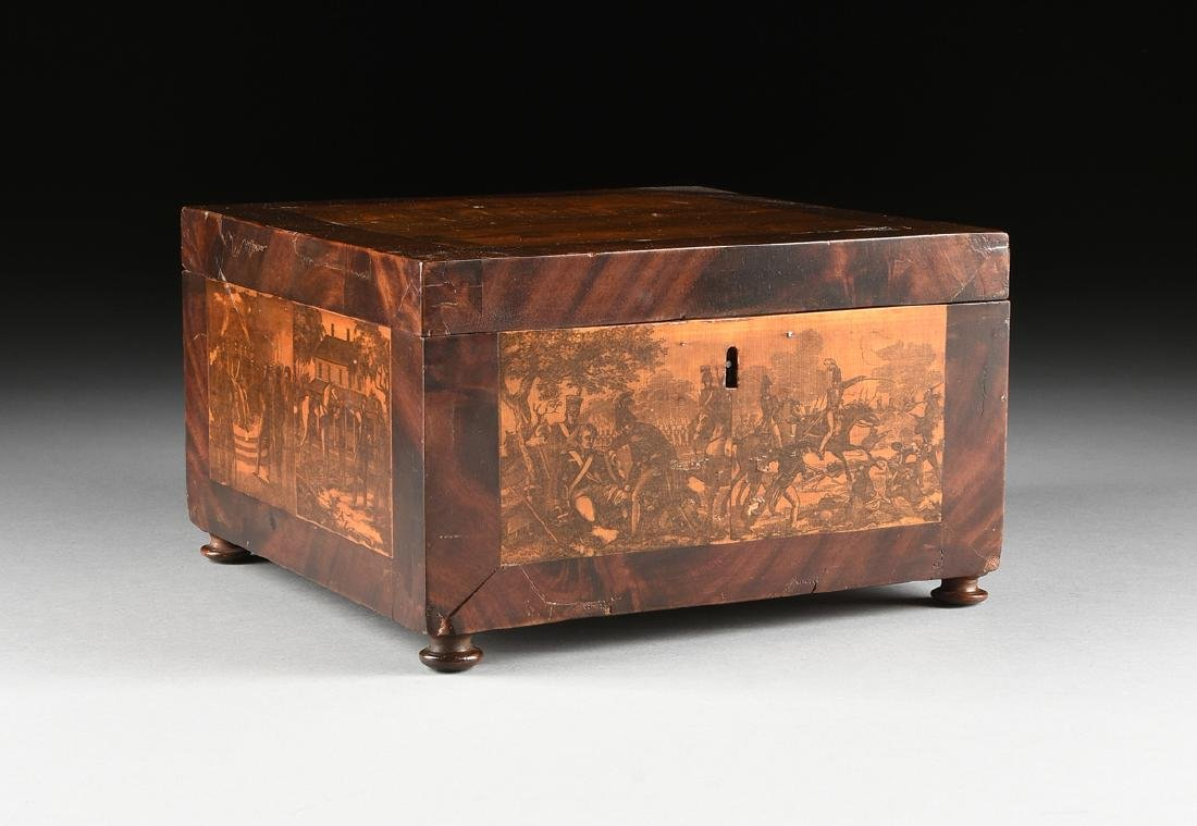 AN AMERICAN FEDERAL REVIVAL FLAME MAHOGANY AND