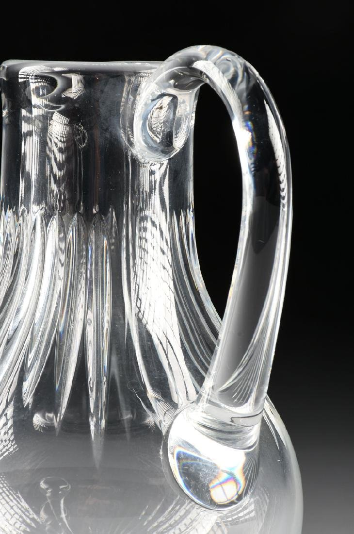 """A BACCARAT CUT CRYSTAL WATER PITCHER IN THE """"MASSENA"""" - 3"""