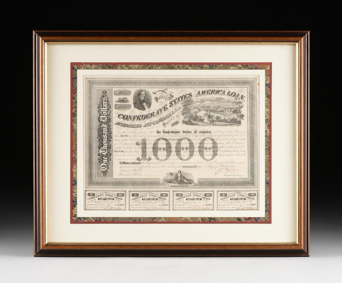 A CONFEDERATE STATES OF AMERICA LOAN FOR 1000 DOLLARS - 2