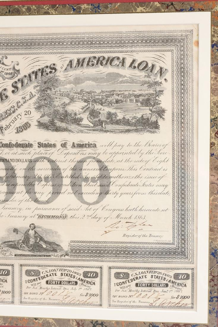 A CONFEDERATE STATES OF AMERICA LOAN FOR 1000 DOLLARS - 3