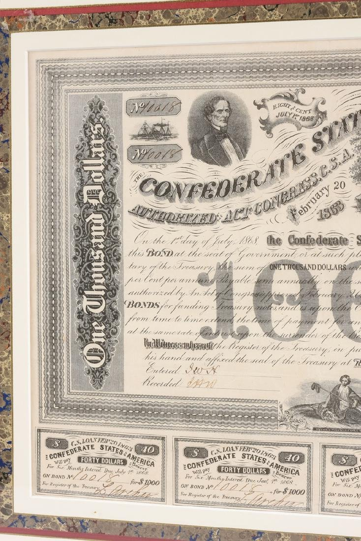 A CONFEDERATE STATES OF AMERICA LOAN FOR 1000 DOLLARS - 4