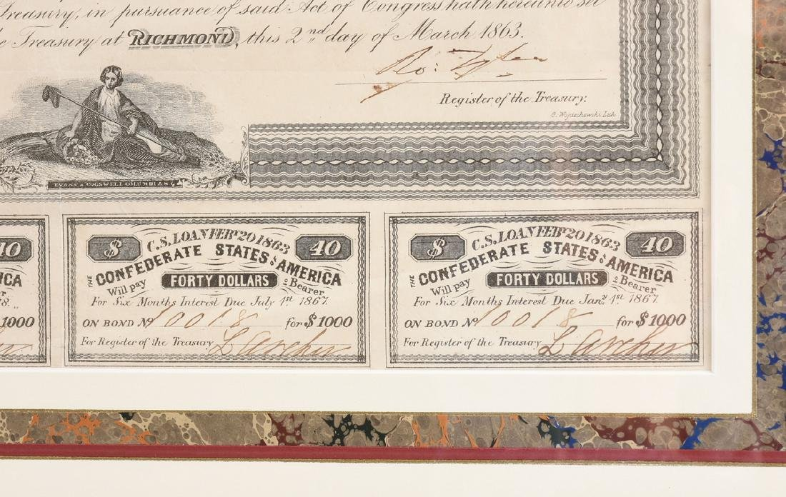 A CONFEDERATE STATES OF AMERICA LOAN FOR 1000 DOLLARS - 5