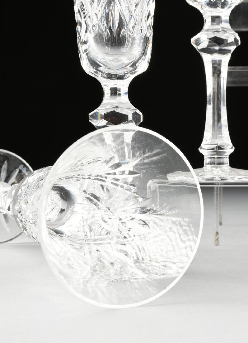 A SET OF ELEVEN WATERFORD CUT CRYSTAL CHAMPAGNE FLUTES - 3