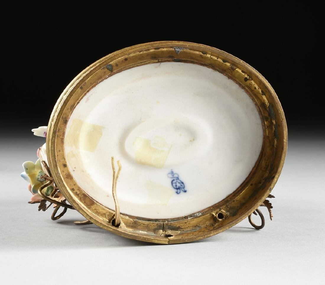 A GERMAN PAINTED PORCELAIN FIGURAL GROUP LAMP, POSSIBLY - 9