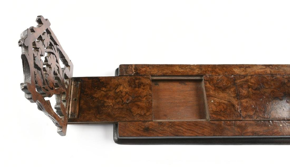 A BLACK FOREST CARVED MAHOGANY AND BURLED BLACK WALNUT - 4