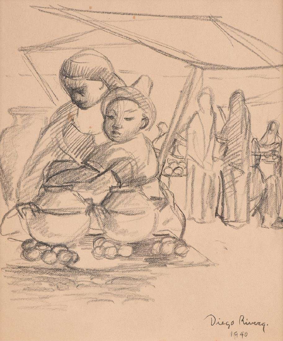 after DIEGO RIVERA (Mexican 1886-1957) A DRAWING,