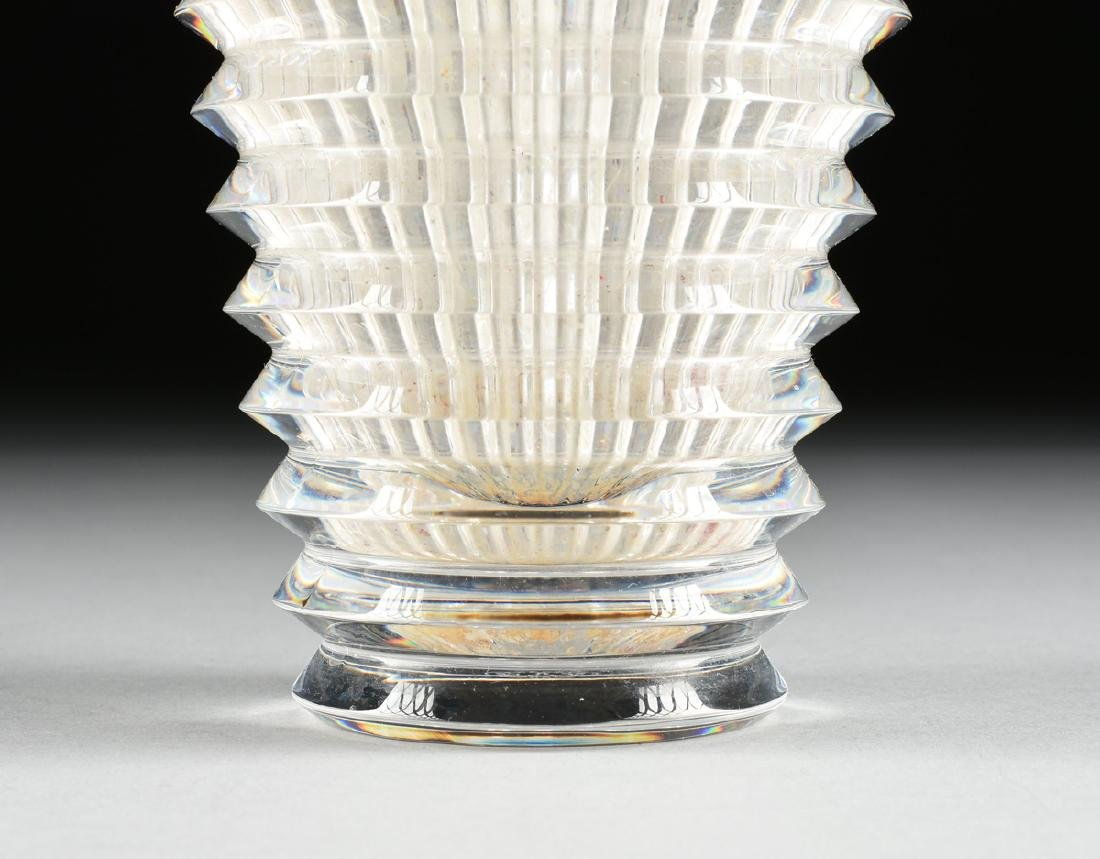 "A BACCARAT CUT CRYSTAL VASE IN THE ""EYE"" PATTERN, - 3"