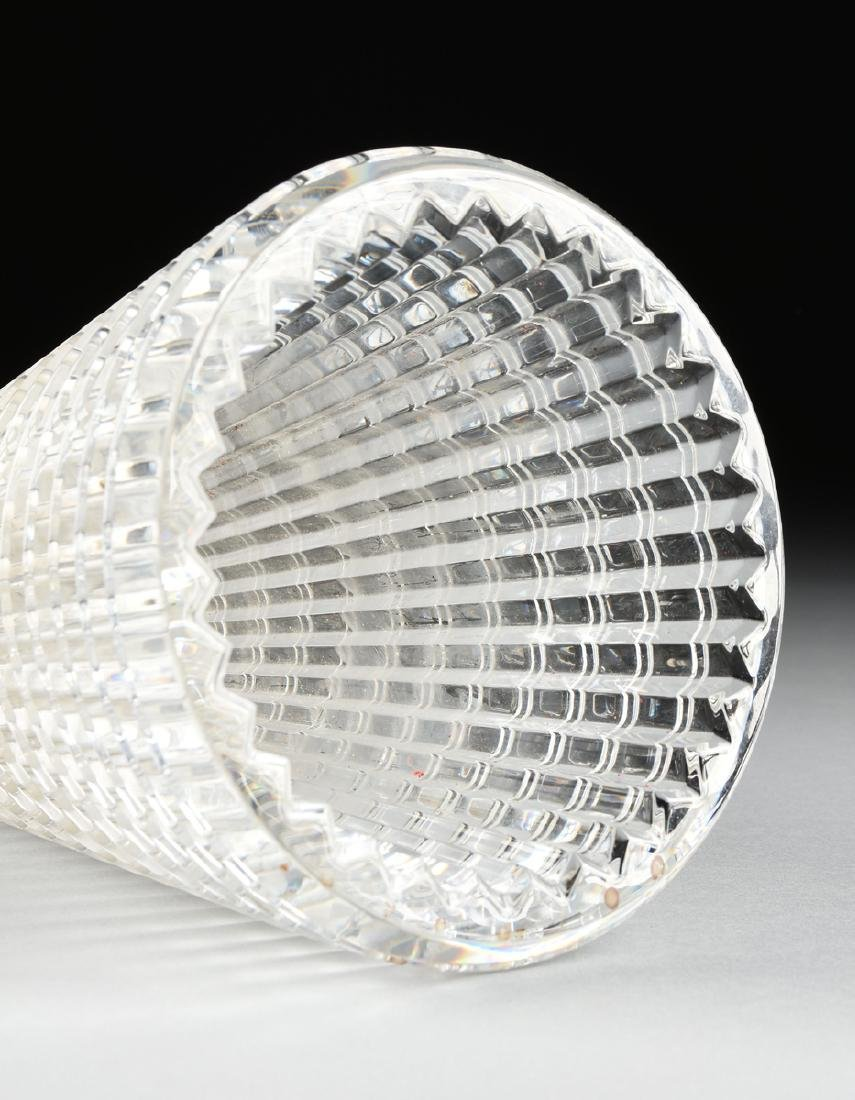 "A BACCARAT CUT CRYSTAL VASE IN THE ""EYE"" PATTERN, - 4"