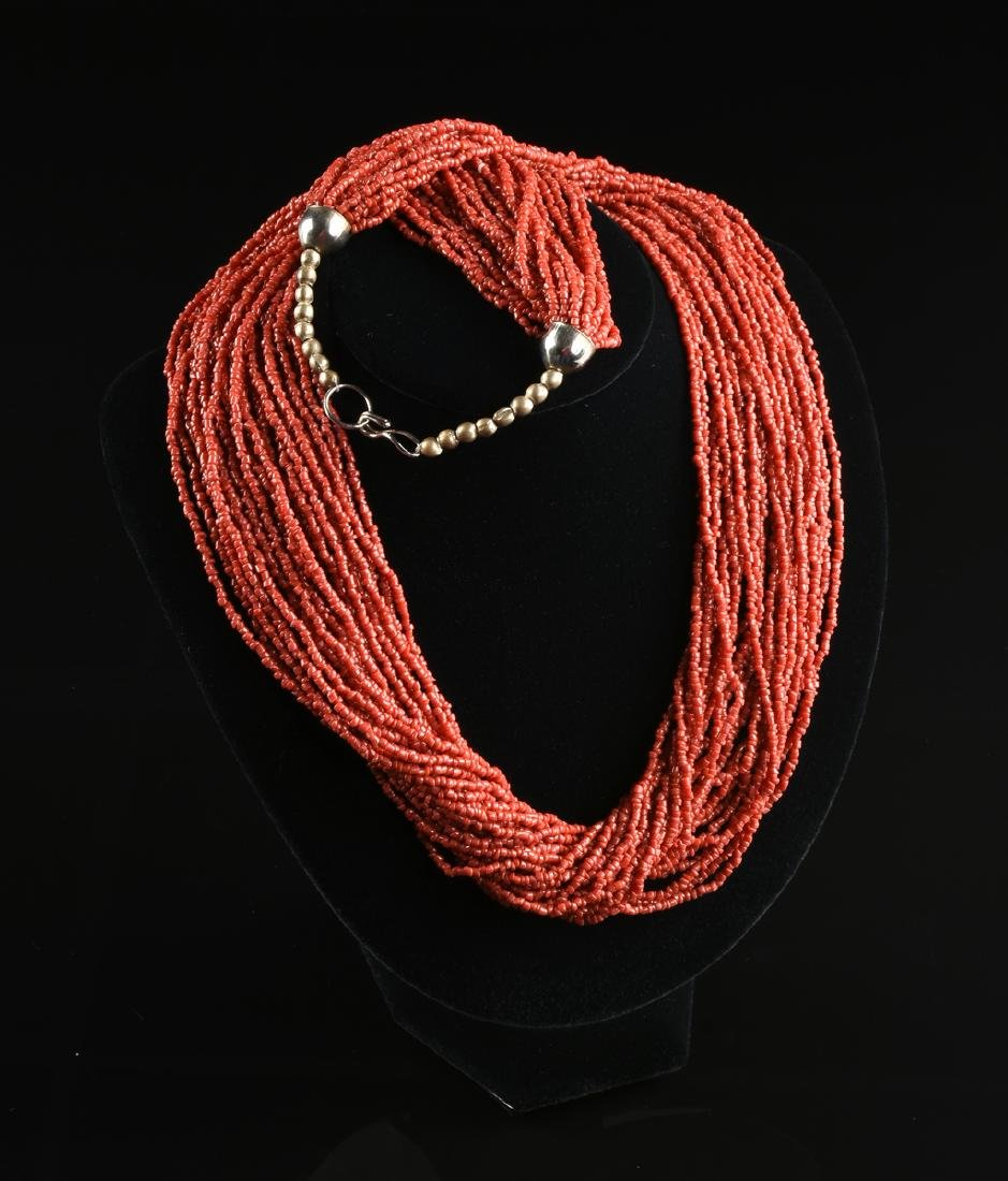 A GROUP OF THREE CORAL NECKLACES, - 5