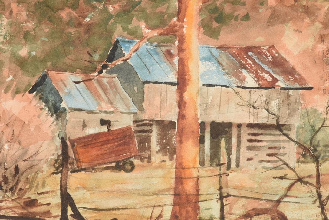"""EMIL BUNJES (American 1902-1974) A PAINTING, """"Tin Roof - 5"""
