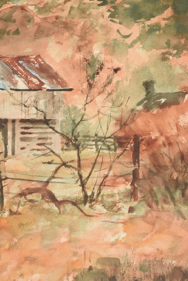 """EMIL BUNJES (American 1902-1974) A PAINTING, """"Tin Roof - 6"""