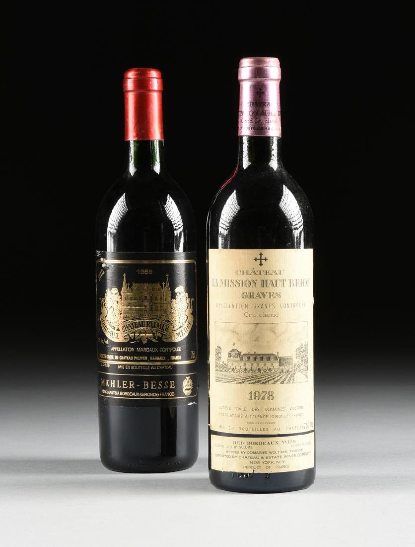 A GROUP OF TWO BOTTLES OF FRENCH WINE,