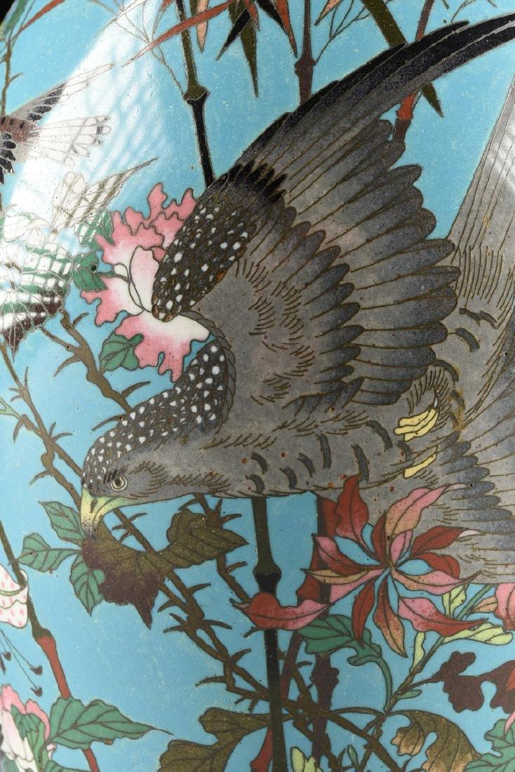 A PAIR OF JAPANESE CLOISONNÉ ENAMELED VASES, MEIJI - 12