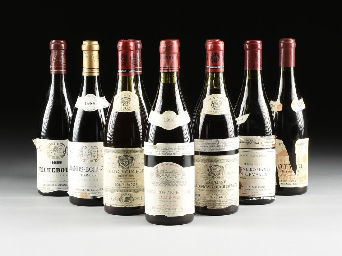 A GROUP OF ELEVEN BOTTLES OF FRENCH WINE,