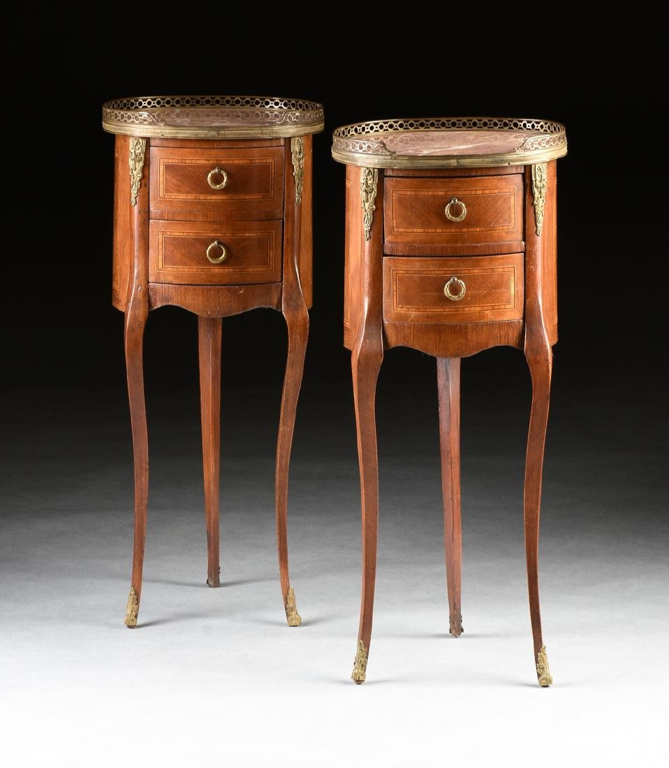 A PAIR OF FRENCH TRANSITIONAL LOUIS XV/XVI STYLE