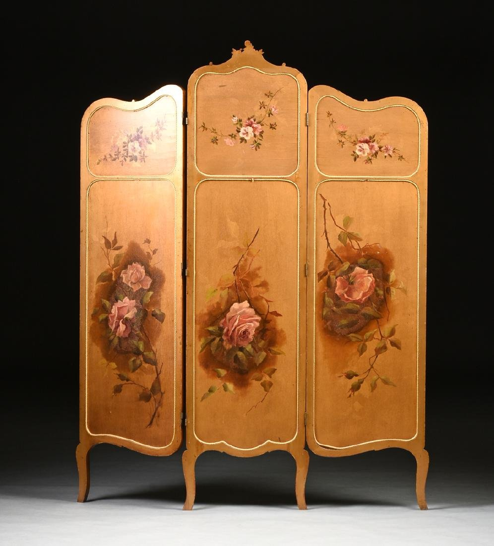 AN AMERICAN ROCOCO REVIVAL GILTWOOD POLYCHROME DRESSING - 10