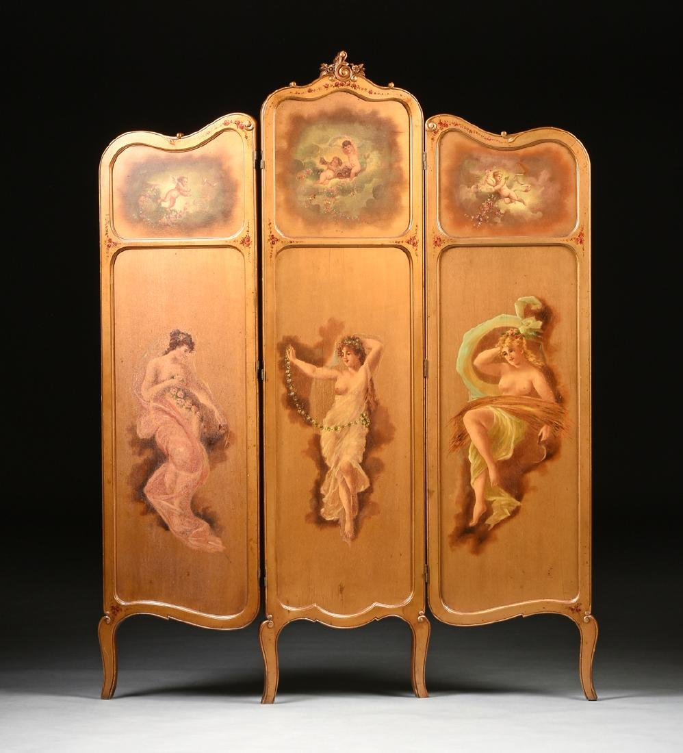 AN AMERICAN ROCOCO REVIVAL GILTWOOD POLYCHROME DRESSING