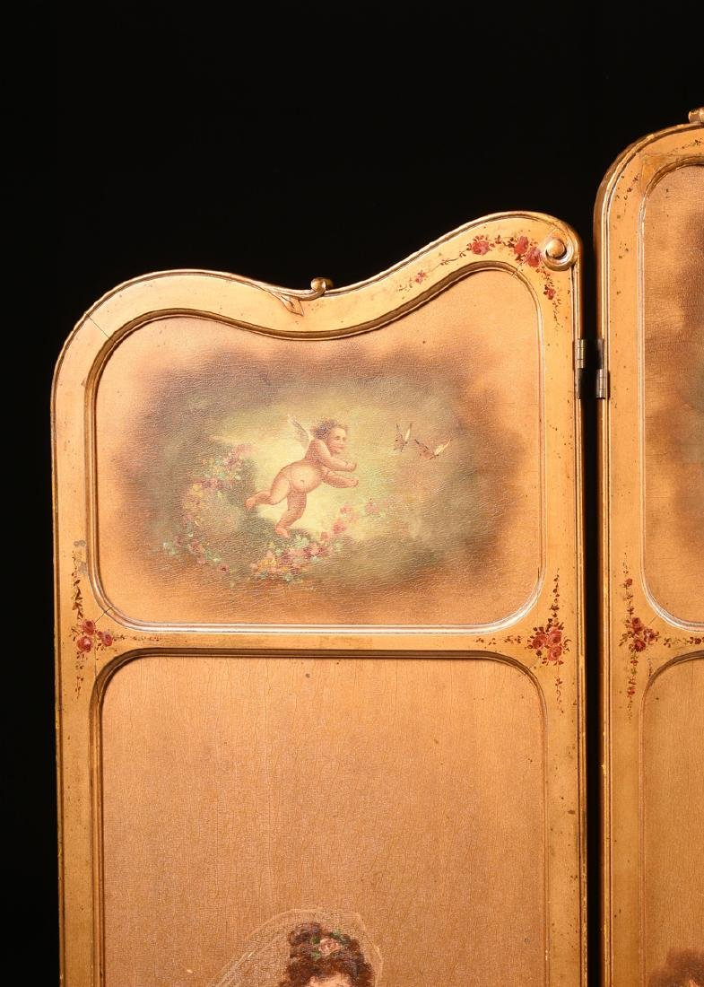 AN AMERICAN ROCOCO REVIVAL GILTWOOD POLYCHROME DRESSING - 2