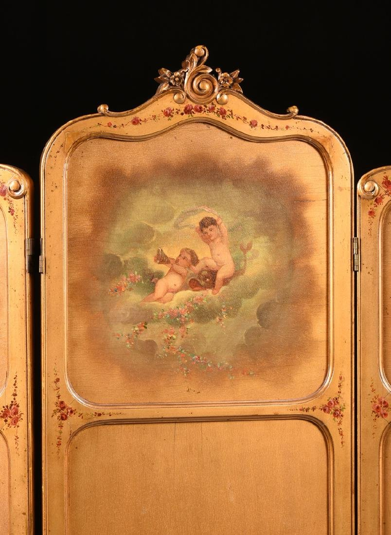 AN AMERICAN ROCOCO REVIVAL GILTWOOD POLYCHROME DRESSING - 3