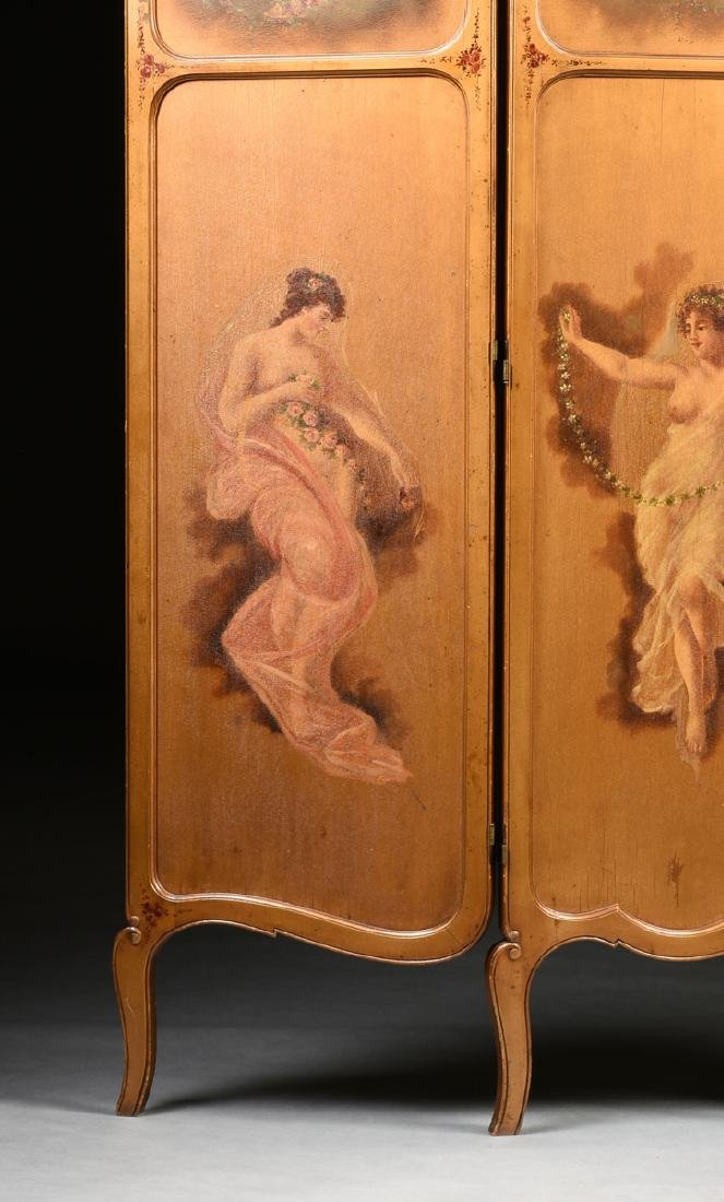 AN AMERICAN ROCOCO REVIVAL GILTWOOD POLYCHROME DRESSING - 5