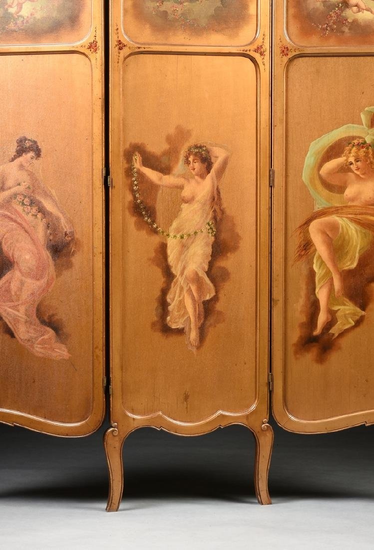 AN AMERICAN ROCOCO REVIVAL GILTWOOD POLYCHROME DRESSING - 6