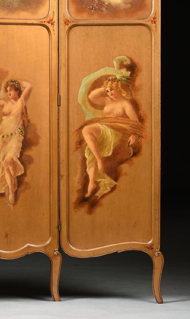 AN AMERICAN ROCOCO REVIVAL GILTWOOD POLYCHROME DRESSING - 7