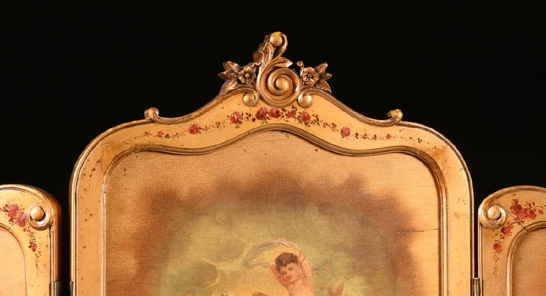 AN AMERICAN ROCOCO REVIVAL GILTWOOD POLYCHROME DRESSING - 8