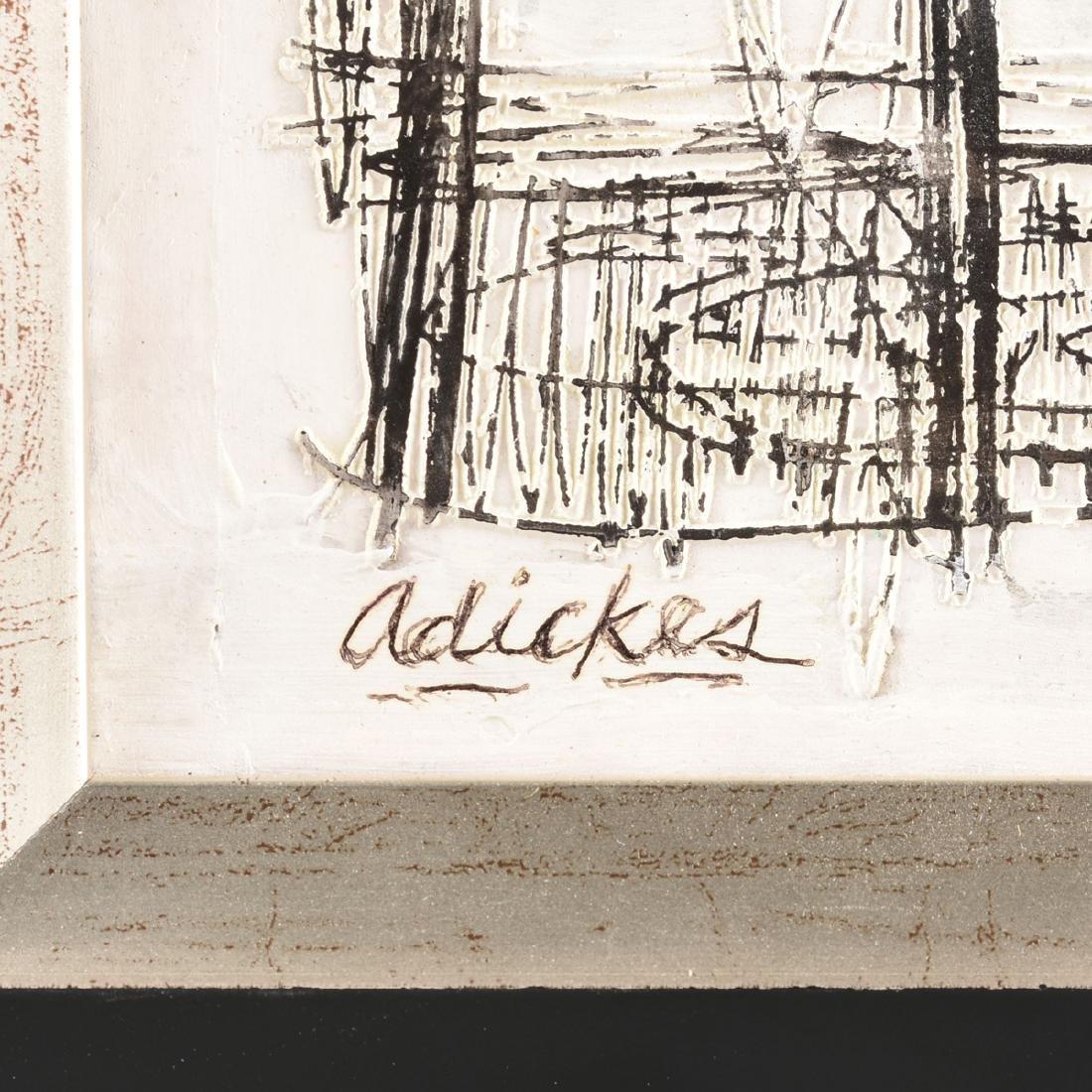DAVID ADICKES (American b. 1927) AN ENGRAVED PLASTER - 3