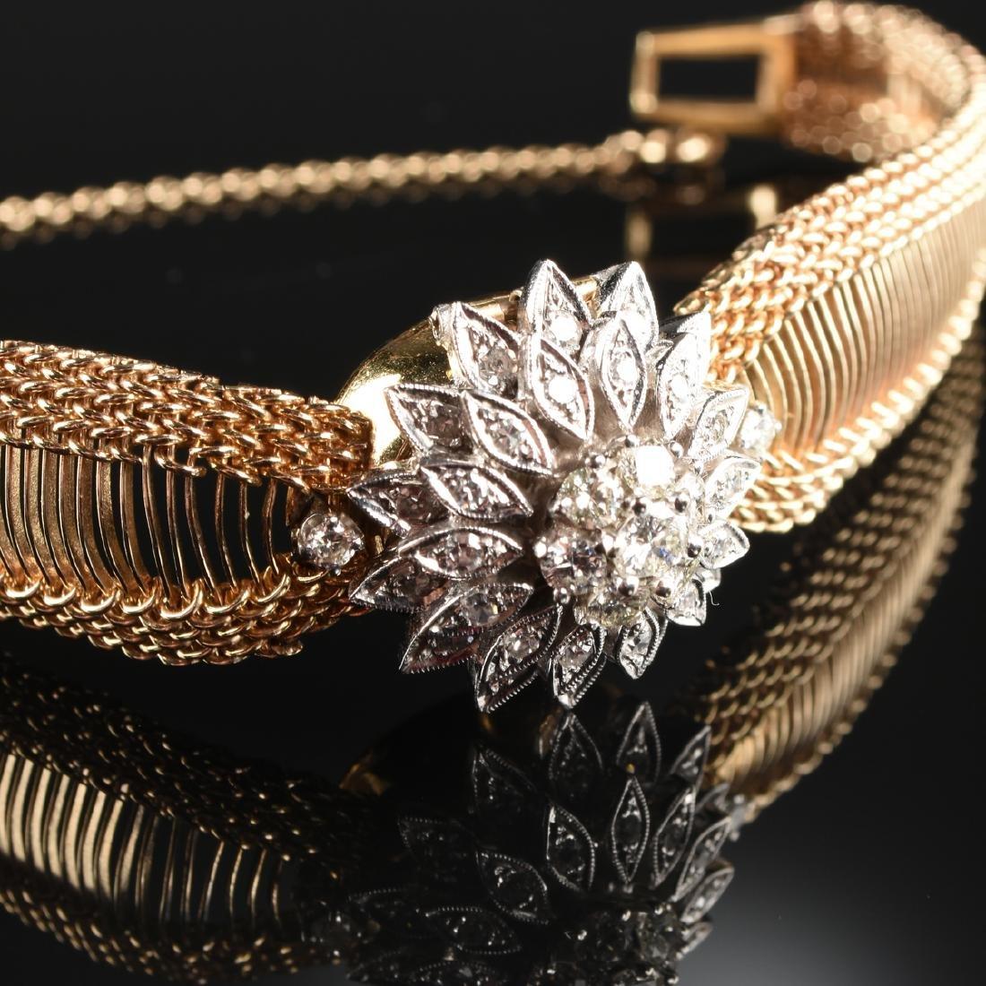 A 14K TWO TONE GOLD AND DIAMOND HAMILTON LADY'S - 2
