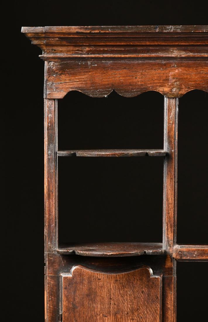 A GEORGE III QUEEN ANNE STYLE OAK AND ELM DRESSER, - 5