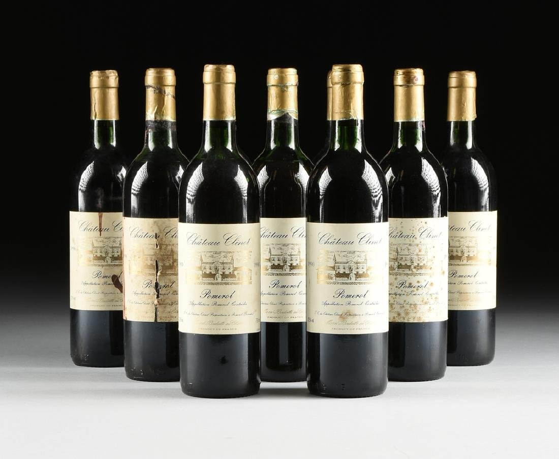 A LOT OF NINE BOTTLES OF 1990 CHÂTEAU CLINET POMEROL,