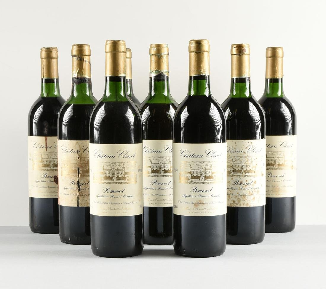 A LOT OF NINE BOTTLES OF 1990 CHÂTEAU CLINET POMEROL, - 2