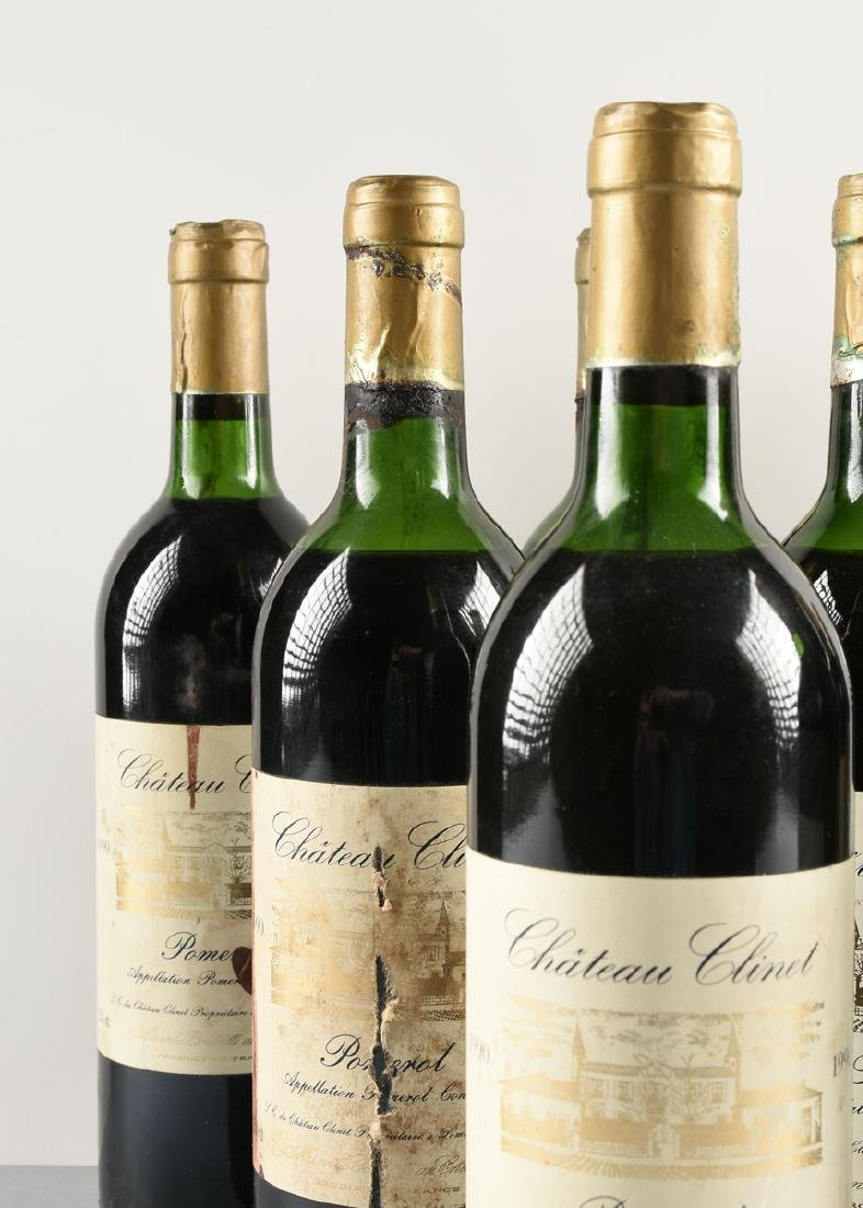 A LOT OF NINE BOTTLES OF 1990 CHÂTEAU CLINET POMEROL, - 3