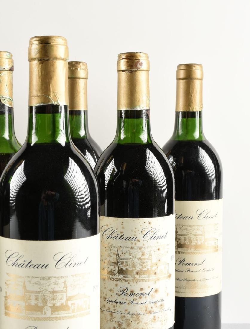 A LOT OF NINE BOTTLES OF 1990 CHÂTEAU CLINET POMEROL, - 4