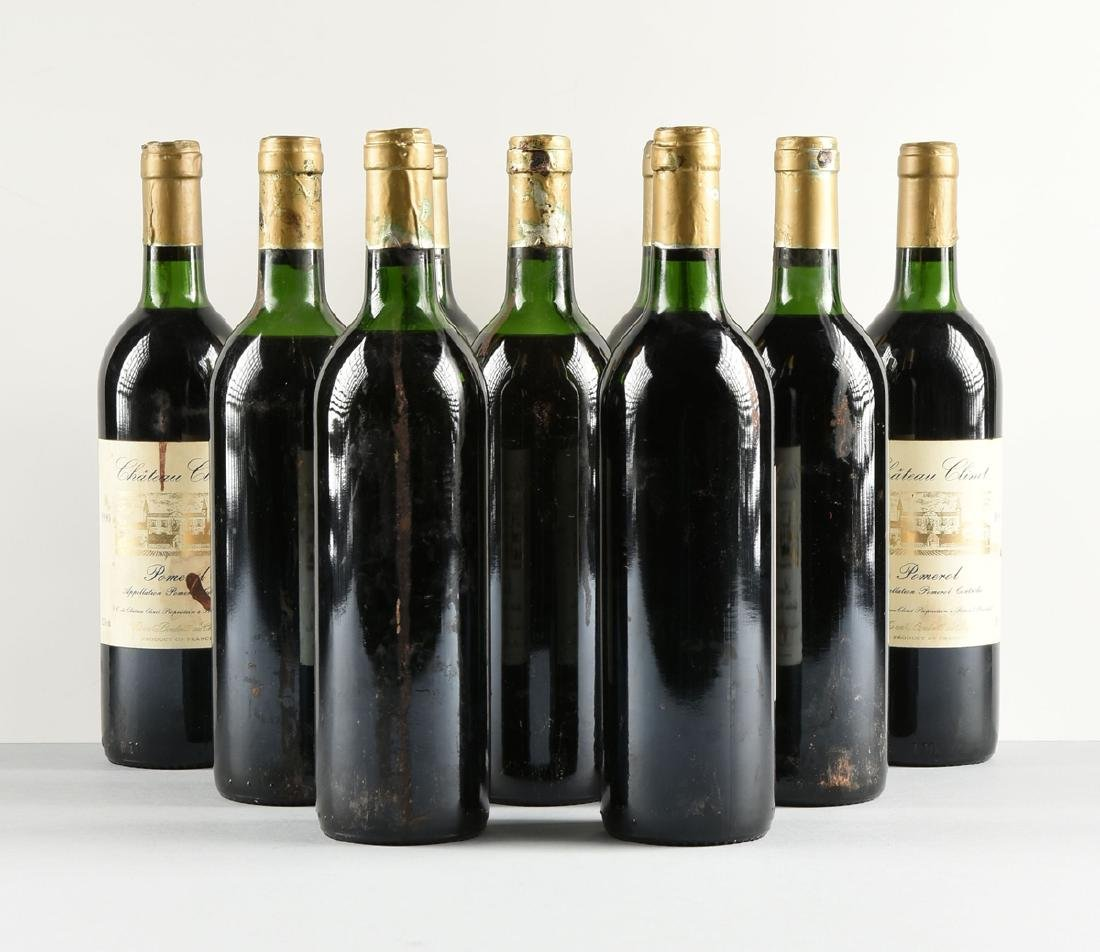A LOT OF NINE BOTTLES OF 1990 CHÂTEAU CLINET POMEROL, - 5