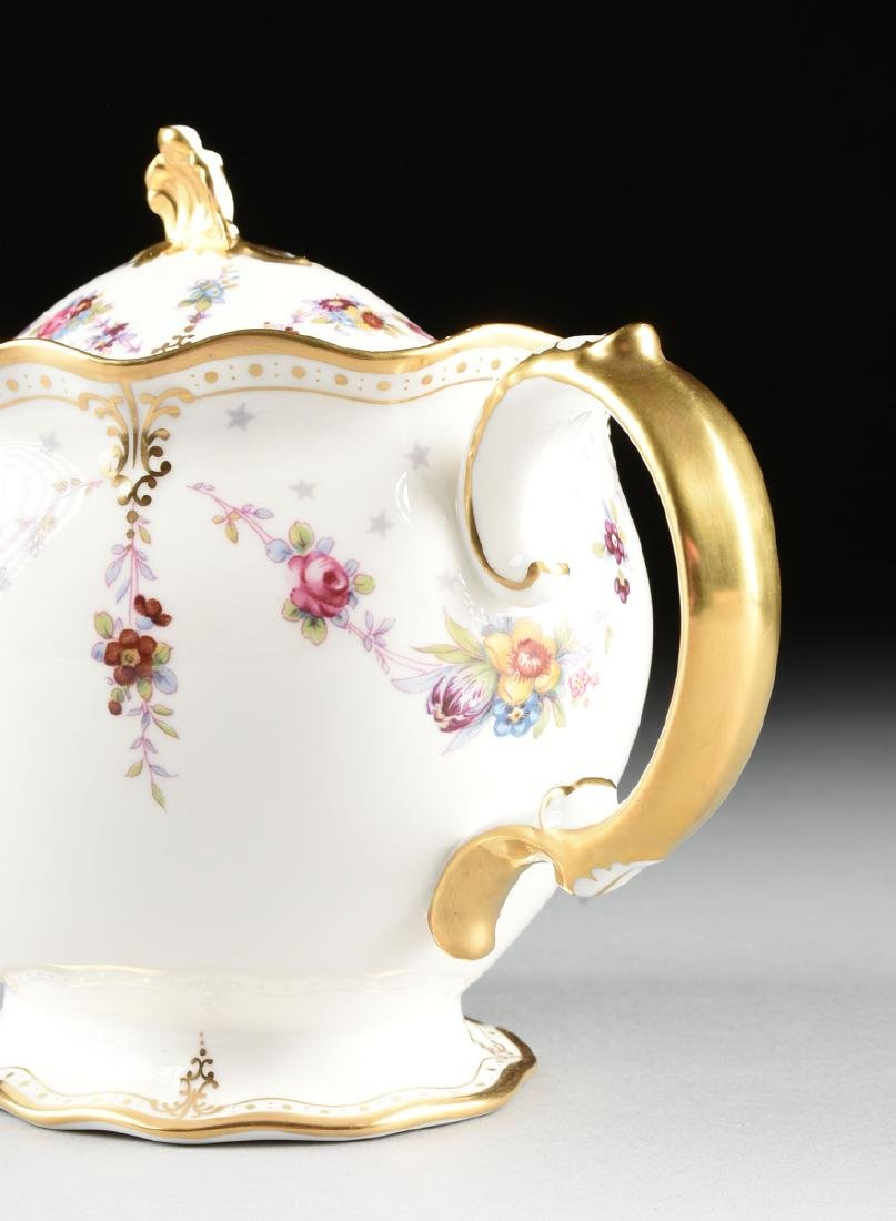 A TWENTY-TWO PIECE ROYAL CROWN DERBY GILT AND ENAMEL - 6
