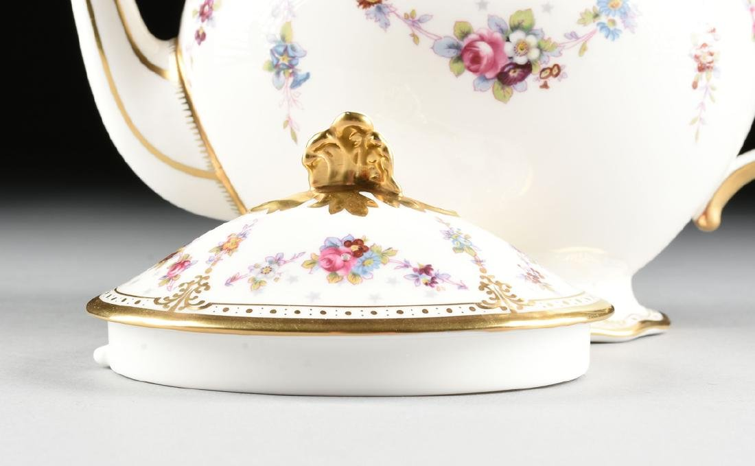A TWENTY-TWO PIECE ROYAL CROWN DERBY GILT AND ENAMEL - 7