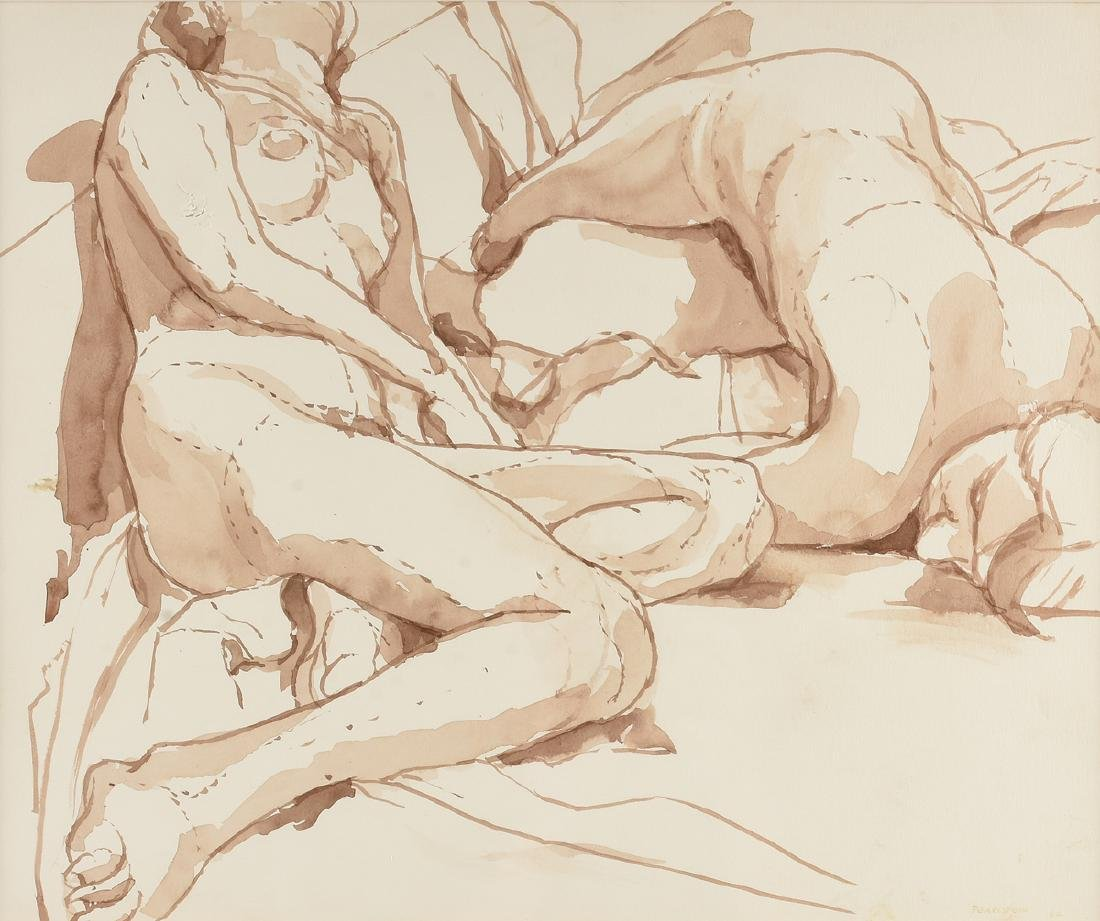 "PHILIP PEARLSTEIN (American b. 1924) A PAINTING, ""Two"