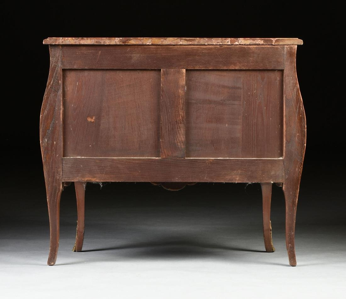 A FRENCH LOUIS XV STYLE MARQUETRY INLAID MIXED WOOD - 12
