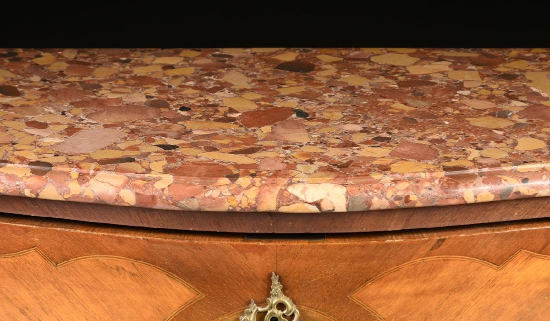A FRENCH LOUIS XV STYLE MARQUETRY INLAID MIXED WOOD - 9