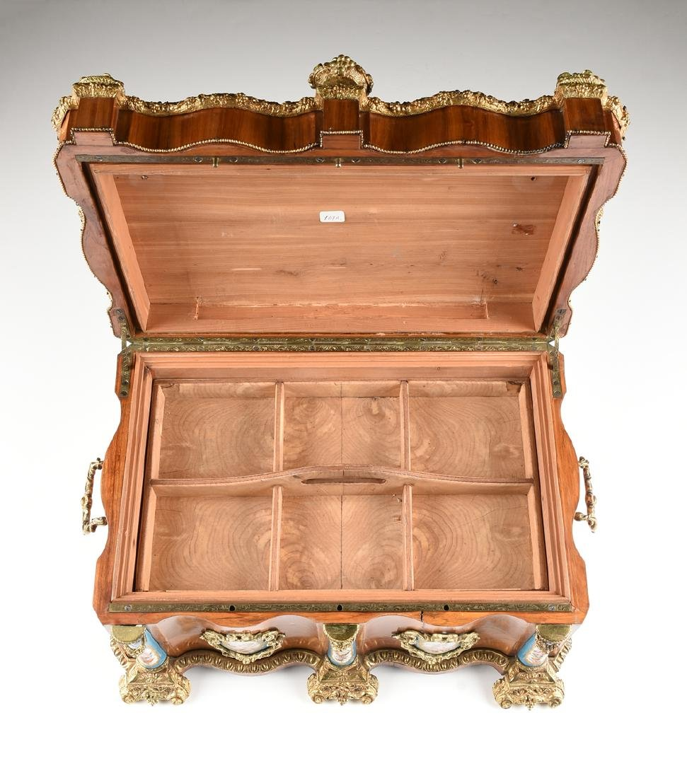 A NAPOLEON III GILT BRONZE AND PORCELAIN MOUNTED - 6