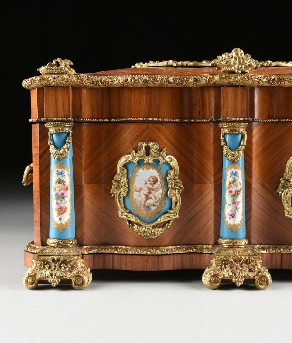 A NAPOLEON III GILT BRONZE AND PORCELAIN MOUNTED - 7